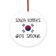 South Korea's Got Seoul! Ornament (Round)