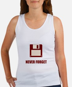 Never Forget Floppy Disks Women's Tank Top