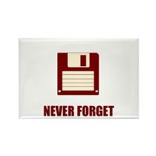 Never Forget Floppy Disks Rectangle Magnet
