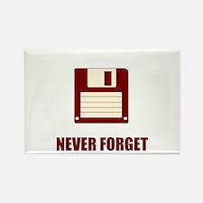 Never Forget Floppy Disks Rectangle Magnet