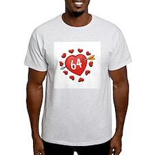 64th Valentine Ash Grey T-Shirt