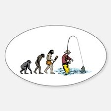 Fishing Sticker (Oval)