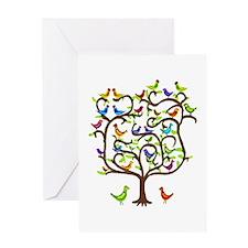 bird tree congratulations Greeting Card