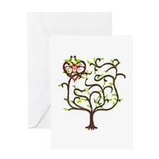 love birds congratulations Greeting Card