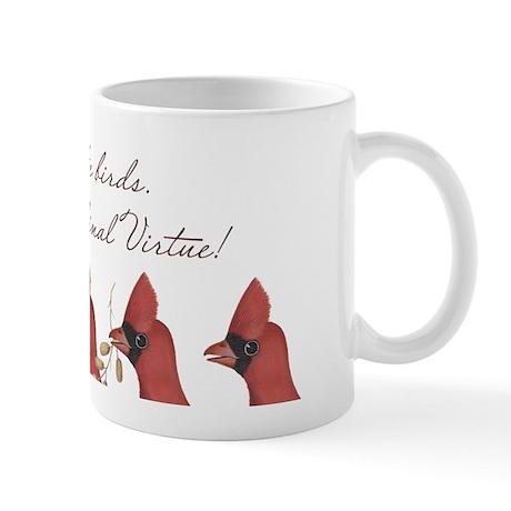 Feed the Birds Cardinal Mug