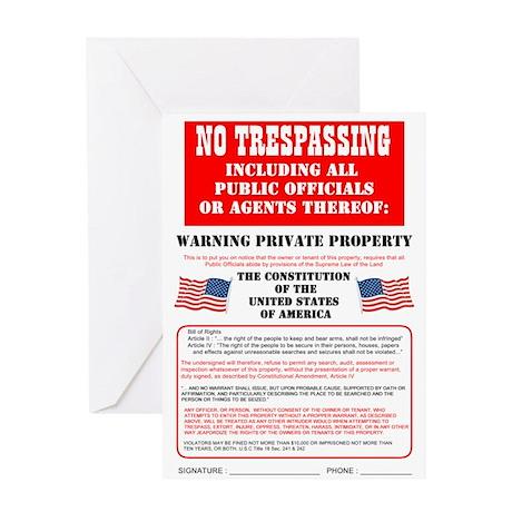 No Trespassing Greeting Card