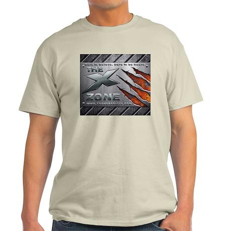 Brushed Steel - X ZONE logo Light T-Shirt