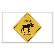 moose crossing pocket copy Decal