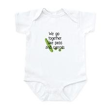 Together Like Peas and Carrots; Peas Infant Bodysu