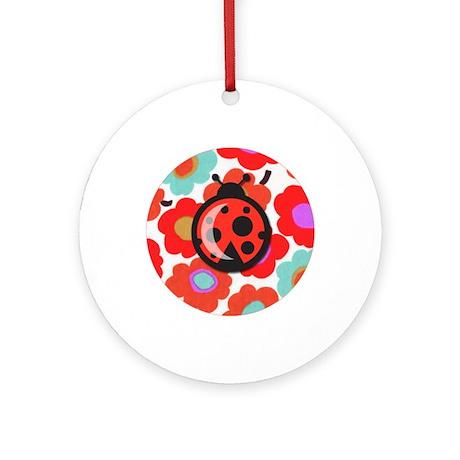 Itty Bitty Ladybug Ornament (Round)