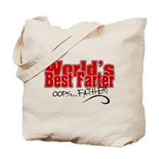 World's Best Farter (oops.. FATHER!) Tote Bag