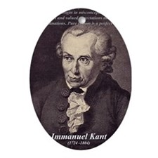 Immanuel Kant Reason Oval Ornament
