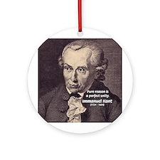 Immanuel Kant Reason Ornament (Round)