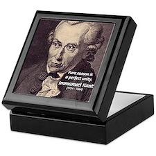 Immanuel Kant Reason Keepsake Box
