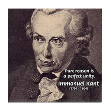 Immanuel Kant Reason Tile Coaster