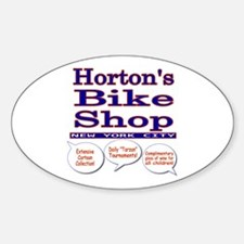 Horton's Bike Shop Sticker (Oval)