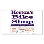 Horton's Bike Shop Sticker (Rectangle)