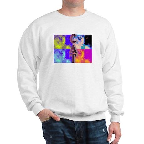 Psychedelic Cat Sweatshirt