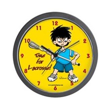 Time for Lacrosse Wall Clock