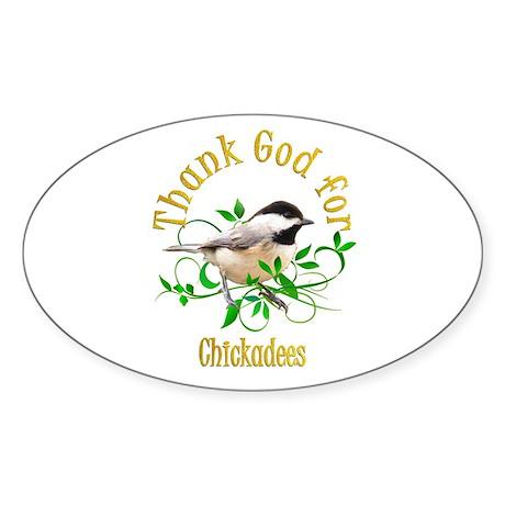 Chickadee Sticker (Oval)