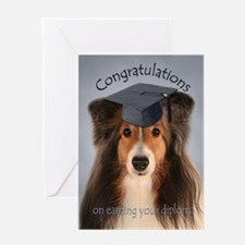 Sheltie Graduation Card