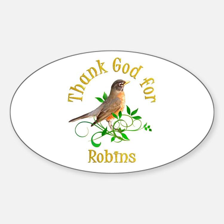Robin Sticker (Oval)