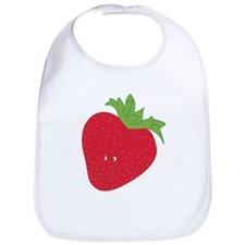 Happy Strawberry Bib