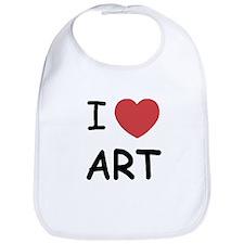 I heart Art Bib