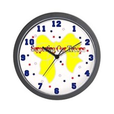Support Our Troops Wall Clock 1