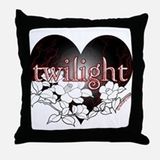 Twilight Flowers by Twibaby Throw Pillow