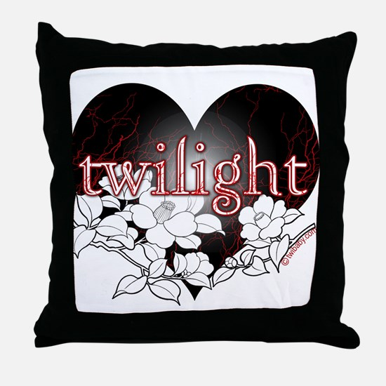 Twilight Flowers by Twibaby Throw Pillow
