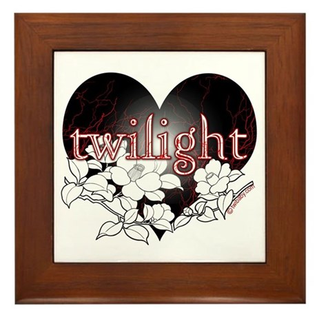 Twilight Flowers by Twibaby Framed Tile
