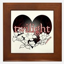 Twilight Flowers by Twibaby Framed Tile