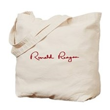 Ronald Reagan Signature Tote Bag