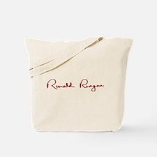 Ronald Reagan Signature Tote Bag
