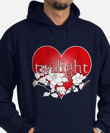 Twilight Heart Flower by twibaby Hoodie (dark)