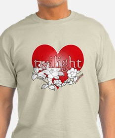 Twilight Heart Flower by twibaby T-Shirt