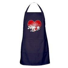 Twilight Heart Flower by twibaby Apron (dark)