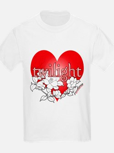 Twilight Heart Flower by twibaby T-Shirt