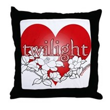 Twilight Heart Flower by twibaby Throw Pillow