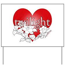 Twilight Heart Flower by twibaby Yard Sign