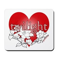 Twilight Heart Flower by twibaby Mousepad