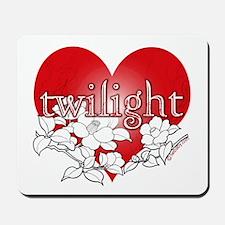 Twilight Heart Flower by twibaby Mousepad
