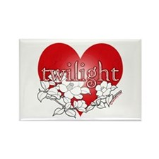 Twilight Heart Flower by twibaby Rectangle Magnet