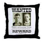 Young Brothers Wanted Throw Pillow