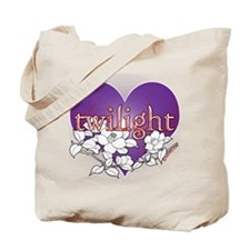 Twilight Heart Flower by twibaby Tote Bag