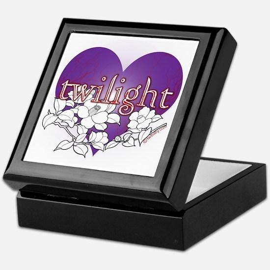 Twilight Heart Flower by twibaby Keepsake Box