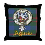 Agnew Clan Crest / Tartan Throw Pillow