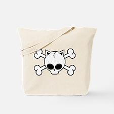 Skull and Cat Bones Tote Bag