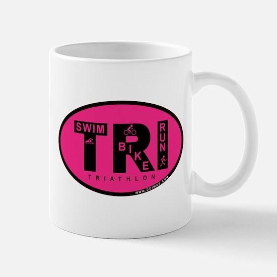 Thiathlon Swim Bike Run Mug